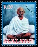Francobollo di Mohandas Karamchand Gandhi Immagine Stock