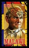 Francobollo di Papa Giovanni Paolo II Immagine Stock