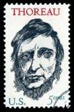 Francobollo di U.S.A. Henry David Thoreau fotografia stock libera da diritti