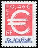 Francobollo - simbolo del ¬ del 'del â Immagine Stock