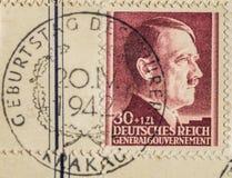 Francobollo sul compleanno del ` s di Hitler Fotografia Stock Libera da Diritti