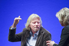 FRANCOFORTE, ALEMANHA - MAIO 17: Richard Branson Foto de Stock Royalty Free
