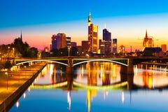 Francoforte - am - cano principal, Alemanha Imagem de Stock