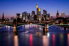 Francoforte - am - cano principal no por do sol Imagens de Stock Royalty Free