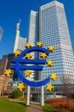 francoforte Euro scultorei della composizione Fotografie Stock