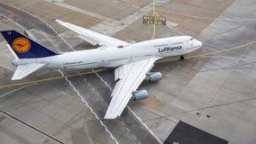 Francoforte - am - Flughafen principal Fotografia de Stock