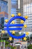 FRANCOFORTE, GERMANIA - 12 LUGLIO: Banca centrale europea a Francoforte Fotografia Stock