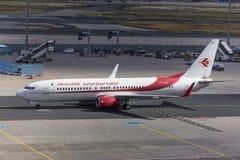 Francoforte, hesse/Alemanha - 25 06 18: avião de Air Algerie na terra no aeroporto de Francoforte Alemanha Fotografia de Stock Royalty Free