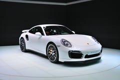 FRANCOFORTE - IL 14 SETTEMBRE: Porsche 911 Turbo S presentato come prem del mondo Fotografia Stock
