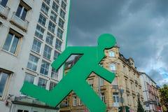 Francoforte, a metrópole de Alemanha Imagens de Stock Royalty Free