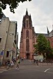 Francoforte no cano principal, catedral de Alemanha - de St Bartholomew Imagem de Stock