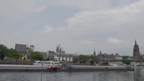 Francoforte - são - cano principal! Cidade europeia bonita! video estoque