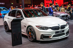 FRANCOFORTE - SEPT 2015: BMW M3 apresentado no International Mot de IAA Imagem de Stock