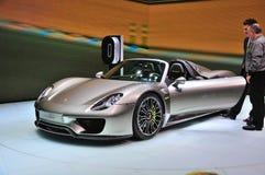 FRANCOFORTE - SEPT 14: Porsche 918 Spyder apresentado como o premi do mundo Foto de Stock Royalty Free