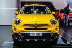 FRANCOFORTE - SETTEMBRE DEL 2015: FIAT 500x presentato all'internazionale di IAA Immagini Stock