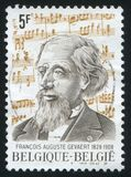 Francois Auguste Gevaert musicologist and composer. RUSSIA KALININGRAD, 20 OCTOBER 2015: stamp printed by Belgium, shows Francois Auguste Gevaert musicologist Royalty Free Stock Photography