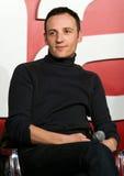 Francois Begaudeau contacte l'assistance de film Image stock