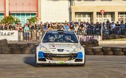 Francois Delecour - Dominique Savignoni- Transylvania Rally 2014 Royalty Free Stock Image