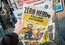 Francois Fillon caricature Stock Photography