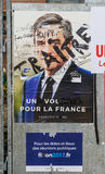 Francois Fillon, French Presidential Electoral Campaign Posters. STRASBOURG, FRANCE - APR 26, 2017: Official campaign posters of François Fillon political party Stock Photography