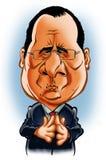 Francois Hollande karykatura Zdjęcie Stock
