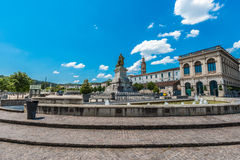 Francois Mitterrand Square in Cahors, France Royalty Free Stock Image