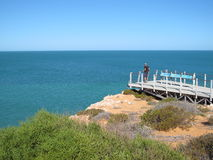 Francois Peron National Park hajfjärd, västra Australien arkivbild