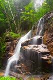 Franconia山谷瀑布NH 库存图片