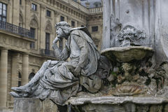 Franconia Fountain - Wurzburg, Germany Stock Image