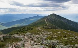 Franconia grani ślad w New Hampshire fotografia royalty free