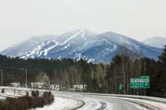 Franconia, NH, Route 93 Ski Country. Royalty Free Stock Photo