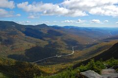 Franconia Notch in fall, White Mountains, New Hampshire, USA