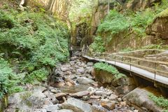 Franconia Notch State Park. Flume gorge in Franconia Notch State Park Stock Image