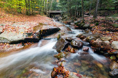 Franconia notch state park, new hampshire, usa. Water stream and falls in franconia notch state park, new hampshire, usa royalty free stock image