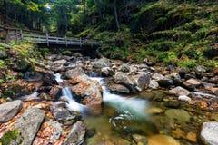 Franconia notch state park, new hampshire, usa. Water stream and falls in franconia notch state park, new hampshire, usa royalty free stock photo