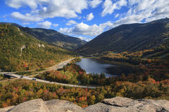 Franconia Notch. A view of Franconia Notch in New Hampshire royalty free stock images