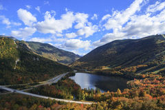 Franconia Notch. A view of Franconia Notch in New Hampshire royalty free stock photo