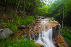 Franconia Notch Waterfalls NH. Waterfalls in Franconia Notch in White Mountains of New Hampshire royalty free stock photos