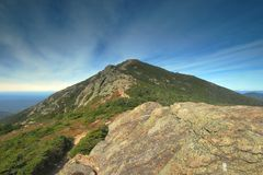 Franconia Ridge in den weißen Bergen in New Hampshire Lizenzfreie Stockfotos