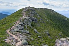 Franconia Ridge Trail in New Hampshire. Views from the Franconia Ridge Trail in New Hampshire's White Mountains royalty free stock images