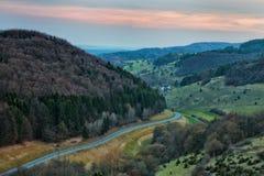 Franconian Spring Landscape Stock Images