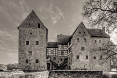 Franconian Water Castle Brennhausen Stock Images