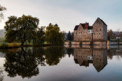 Franconian Water Castle Brennhausen Stock Photo