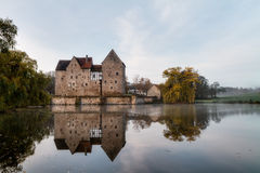 Franconian Water Castle Brennhausen Royalty Free Stock Image