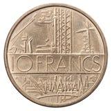 10 francos de moneda Imagen de archivo libre de regalías