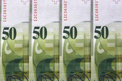 Francos suíços Imagens de Stock