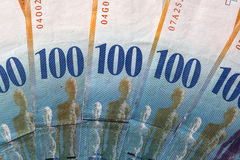 Francos suíços Imagens de Stock Royalty Free