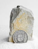 Francos suíços da moeda Imagem de Stock Royalty Free