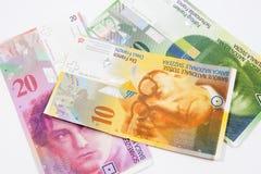 Francos suíços Foto de Stock