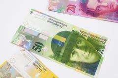 Francos suíços Fotografia de Stock